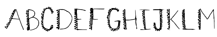 spiiikey Font UPPERCASE