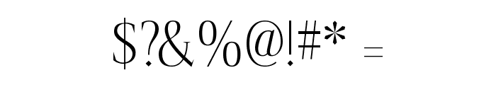 spirequal Light Font OTHER CHARS