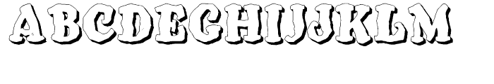 SpeedBall Western Letters 3D Font UPPERCASE