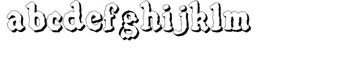 SpeedBall Western Letters 3D Font LOWERCASE