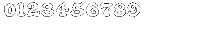 SpeedBall Western Letters Outline Font OTHER CHARS