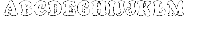 SpeedBall Western Letters Outline Font UPPERCASE
