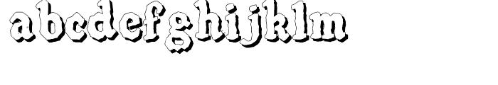 SpeedBall Western Letters Shadow Font LOWERCASE