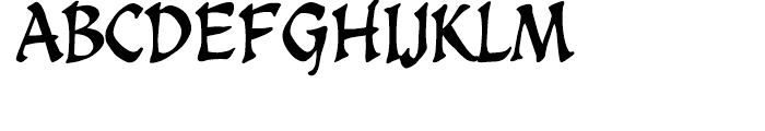 Spellcaster Regular Font UPPERCASE