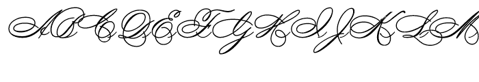 Spencerian By Product Regular Font UPPERCASE