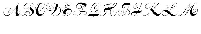 Spencerian Constancia Regular Font UPPERCASE