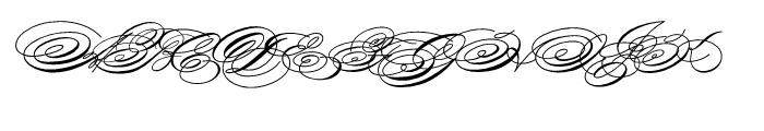 Spencerian Palmer Penmanship Regular Font UPPERCASE
