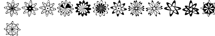 Spirograf Regular Font LOWERCASE