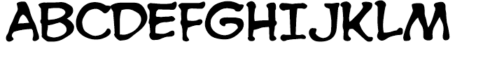 Spooky Tooth Int Regular Font UPPERCASE