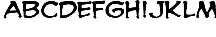 Spooky Tooth Int Regular Font LOWERCASE