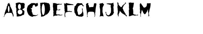 Spooky Font UPPERCASE
