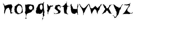Spooky Font LOWERCASE