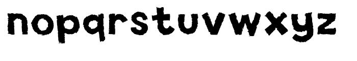 Spud AF Crisp Font LOWERCASE