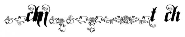 Spanish Rose  Alternates Font OTHER CHARS