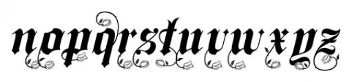 Spanish Rose  Alternates Font LOWERCASE