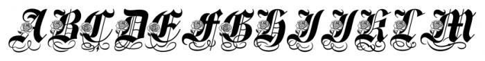 Spanish Rose Regular Font UPPERCASE