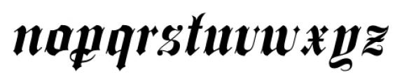 Spanish Rose Regular Font LOWERCASE