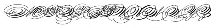 Spencerian Palmer Penmanship Pro Font UPPERCASE