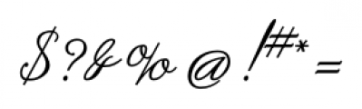 SpencerianByProduct Regular Font OTHER CHARS