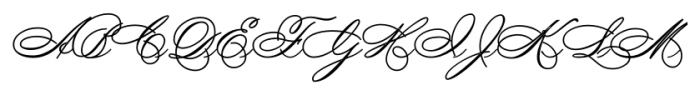 SpencerianByProduct Regular Font UPPERCASE
