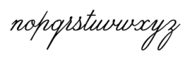 SpencerianByProduct Regular Font LOWERCASE