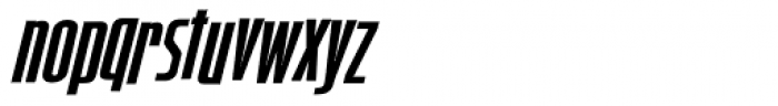 Spaced Out Oblique Font LOWERCASE