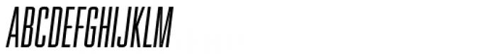 Spaceland Five Oblique Font UPPERCASE