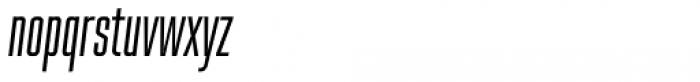 Spaceland Five Oblique Font LOWERCASE