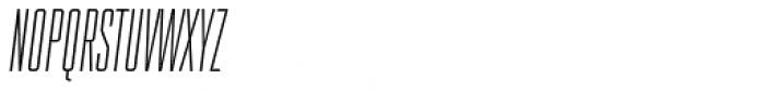 Spaceland Two Oblique Font UPPERCASE