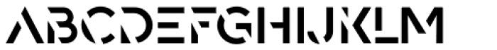 Spaco Stencil SC Regular Font UPPERCASE