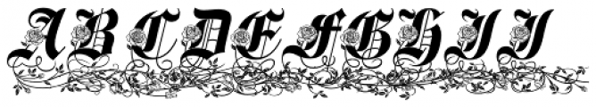 Spanish Rose Reserve Font UPPERCASE