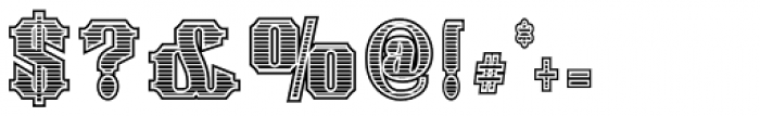 Spargo Engraved Font OTHER CHARS