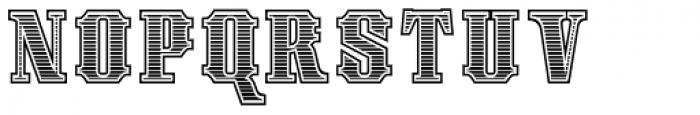 Spargo Engraved Font UPPERCASE