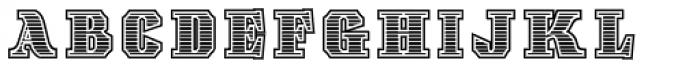 Spargo Engraved Font LOWERCASE