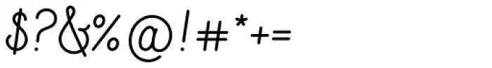Sparkle Script Font OTHER CHARS