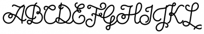 Sparkle Script Font UPPERCASE