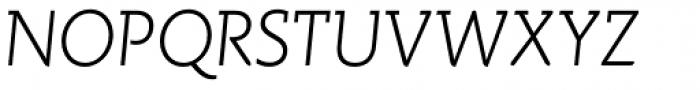 Spartacus Light Italic Font UPPERCASE