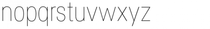 Specify Condensed Thin Font LOWERCASE