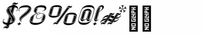 SpeedSwash Black Font OTHER CHARS