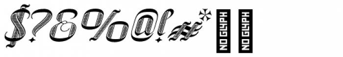 SpeedSwash Engraved Font OTHER CHARS
