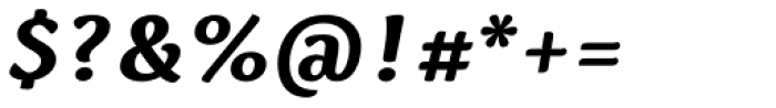 Spencer Bold Italic Font OTHER CHARS