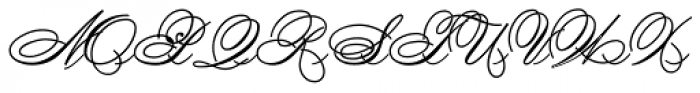 Spencerian By Product Font UPPERCASE
