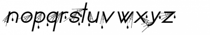 SpiderType Fly Font LOWERCASE