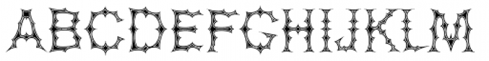 Spinosa BT Inline Font UPPERCASE