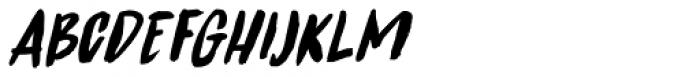 Spinwash Italic Font UPPERCASE