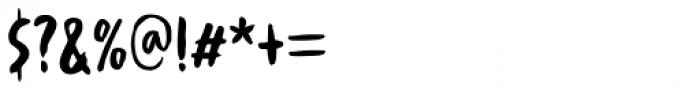Spinwash Regular Font OTHER CHARS