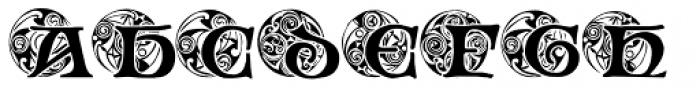 Spiral Initials Font UPPERCASE
