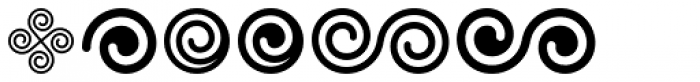 Spiral Ornaments Font OTHER CHARS