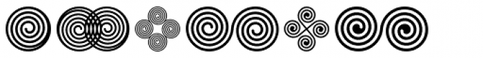 Spiral Ornaments Font LOWERCASE