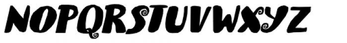 Spiraling Down Italic Font UPPERCASE